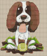 Springer Spaniel Puppy Caricature Cross Stitch Kit