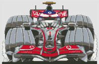 Jenson Button McLaren Cross Stitch Kit