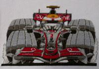 Lewis Hamilton McLaren Cross Stitch Kit