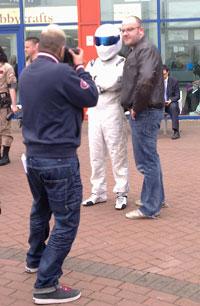 Stig outside the NEC
