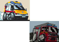 Next Month will feature Emergency Service Vehicles