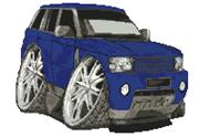Range Rover Sport Caricature Cross Stitch Kit