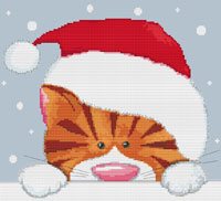 Kate Mawdsley by Stitchtastic Christmas Cat Cross Stitch Kit