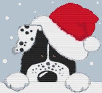 Kate Mawdsley by Stitchtastic Christmas Dog Cross Stitch Kit