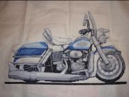 Harley Davidson Electra Glide Caricature Cross Stitch Kit