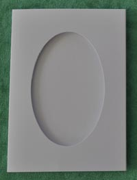 White Oval aperture card