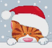 Christmas Cat Cross Stitch Kit