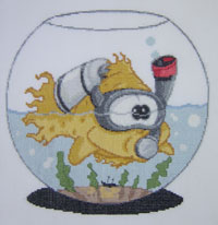 Goldfish caricature cross stitch kit