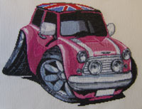 Mini Cooper Cross Stitch Kit