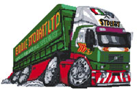 Eddie Stobart Lorry Cross Stitch Kit