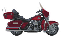 Harley Davidson Ultra Glide Anniversary Edition Cross Stitch Kit