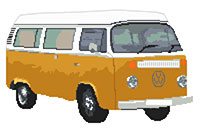 Volkswagen Camper Van Bay Window (detailed) Cross Stitch