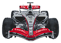 F1 McLaren Cross Stitch