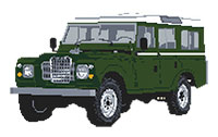 Land Rover 1986 Cross Stitch