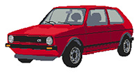 Volkswagen 1980's Golf GTi Cross Stitch Kit