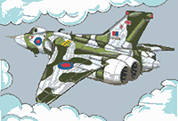 Vulcan Bomber Caricature Cross Stitch Kit