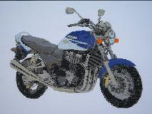 Suzuki GSX 1400 Motorcycle Cross Stitch Kit