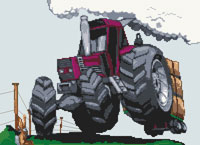 Fiat Agri 880 Tractor Cross Stitch Kit