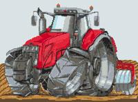 Massey Ferguson Tractor Cross Stitch Kit