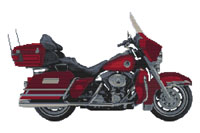 Harley Ultra Glide Cross Stitch Kit