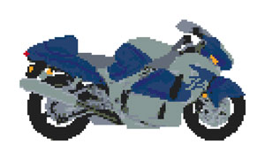 Suzuki Hayabusa Cross Stitch Kit