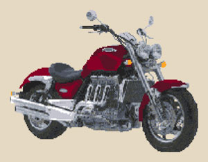 Triumph Rocket III motorbike Cross Stitch Kit