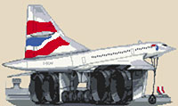 British Airways Concorde Cross Stitch Kit