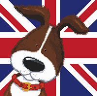 Harry & Friends Brown Dog Cross Stitch Kit