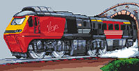 Virgin Intercity Train Cross Stitch Kit