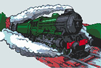 Flying Scotsman Train Cross Stitch Kit
