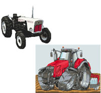 Next Month will feature Tractors