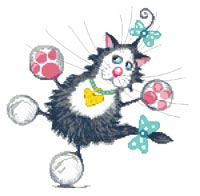 Jazz Hands Princess Whiskers Cross Stitch Kit