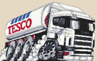Tesco Tanker Caricature Cross Stitch Kit