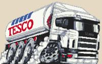 Tesco Tanker Caricature Cross Stitch Kit