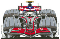 McLaren Hamilton/Button F1 Caricature Cross Stitch Chart