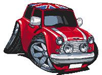 Mini Cooper Union Jack Roof Cross Stitch Kit