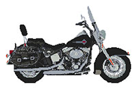 Harley Davidson Heritage Softtail Cross Stitch Kit