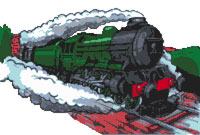 Flying Scotsman Cross Stitch Kit