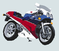 Honda VFR 400 NC30 Cross Stitch Kit