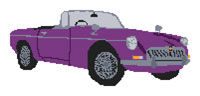 MGB Roadster Cross Stitch Kit