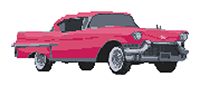 Pink Cadillac Cross Stitch Kit