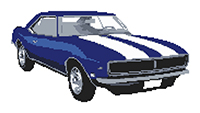 1968 SS Camero Coupe Cross Stitch Kit