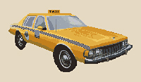 Chevrolet Caprice NY Taxi Cross Stitch Kit