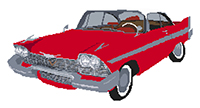 1958 Plymouth Fury (Christine) Cross Stitch Kit