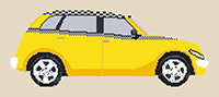 Chrysler PT Taxi Cruiser Cross Stitch Kit