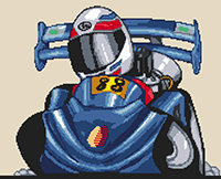 Go Cart Caricature Cross Stitch Kit