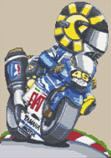 Valentino Rossi Fiat Bike Cross Stitch Kit