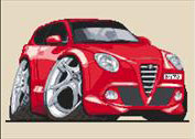 Alfa Romeo Mito Caricature Cross Stitch Kit