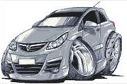 Vauxhall Corsa Cross Stitch Kit