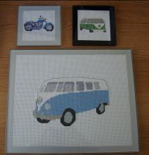 Glass Coasters and Placemats complete with sample stitching